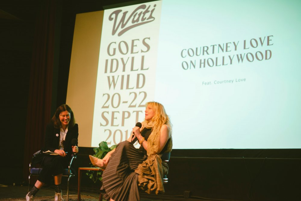 WUTI founder Tabitha Denholm hosts Courtney Love on Hollywood at the IdyllWILD festival