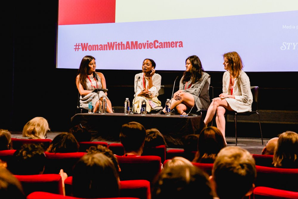 The Critical Perspective panel at the Woman with a Movie Camera summit: host Rhianna Dillon (left) with Kelli Weston, Simran Hans and Sophie Monks Kaufman