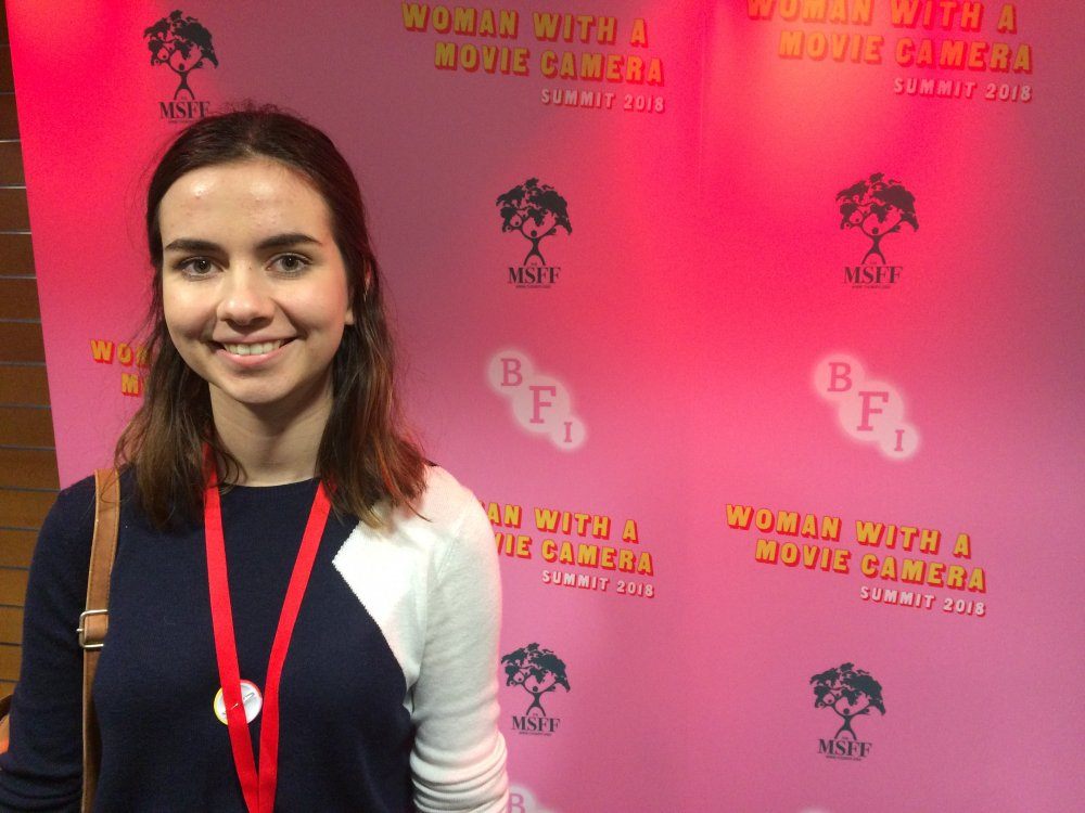 Alexa, 17, at the Woman with a Movie Camera summit in June 2018 at BFI Southbank