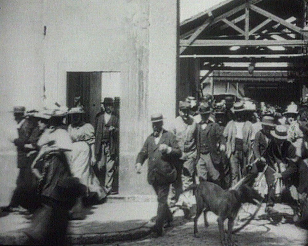 The Lumière brothers' Workers Leaving the Lumière Factory (1895)