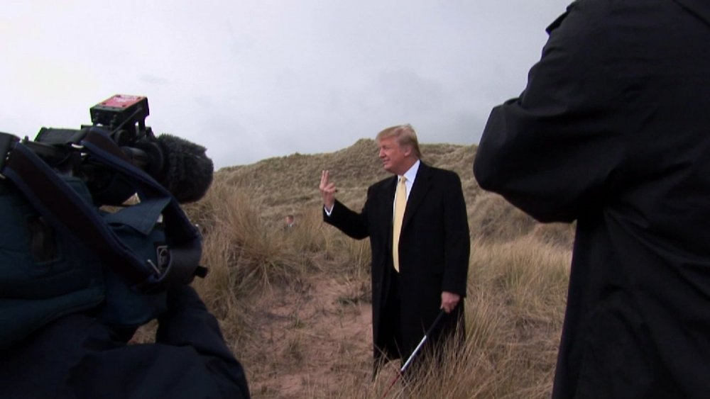 Donald Trump on camera in Anthony Baxter's 2012 documentary You've Been Trumped
