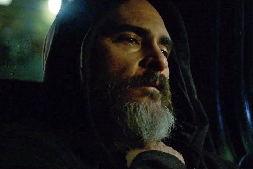 Joaquin Phoenix in Lynne Ramsay's violent thriller You Were Never Really There, which premiered on the last Friday of the Cannes Film Festival