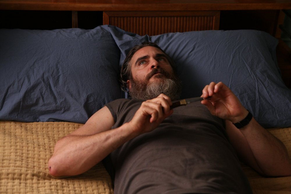 Joaquin Phoenix as Joe in You Were Never Really Here