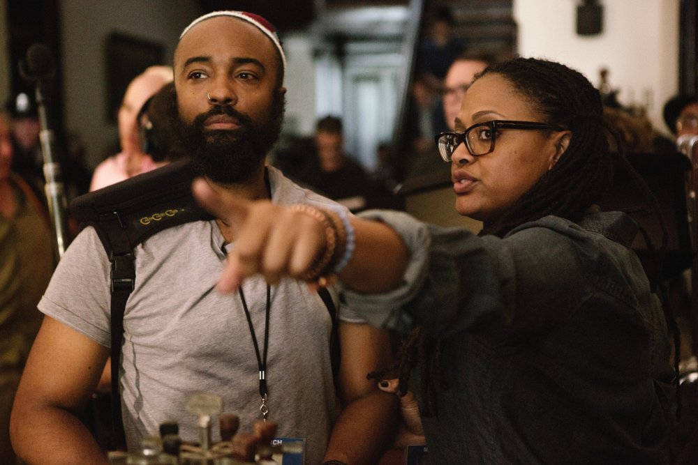 Ava DuVernay directing DP Bradford Young on the set of Selma (2014)