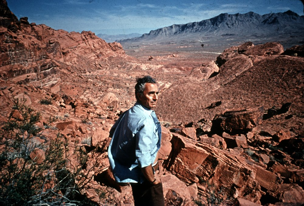 Michelangelo Antonioni on location for Zabriskie Point (1970)