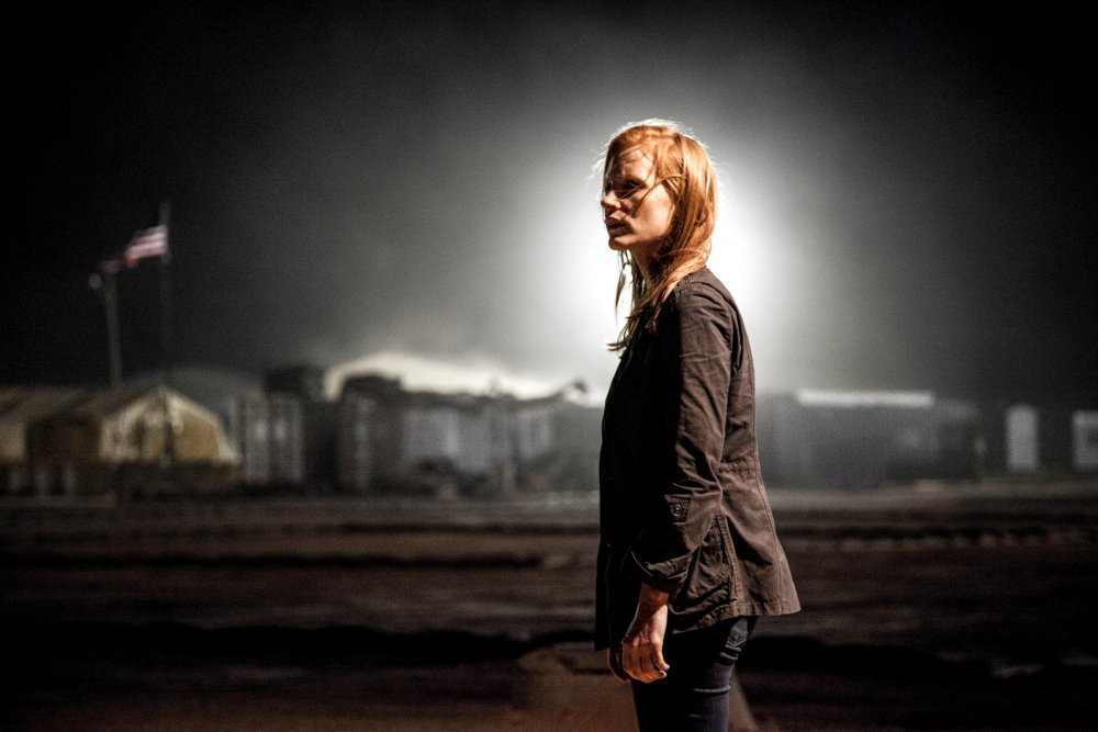 Homeland security: Kathryn Bigelow's Zero Dark Thirty puts CIA investigator Maya (Jessica Chastain) at the heart of the hunt for Osama bin Laden.
