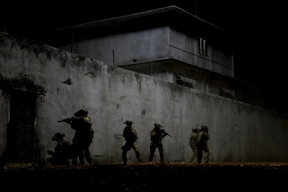 In the dark: the attack on Bin Laden's compound.