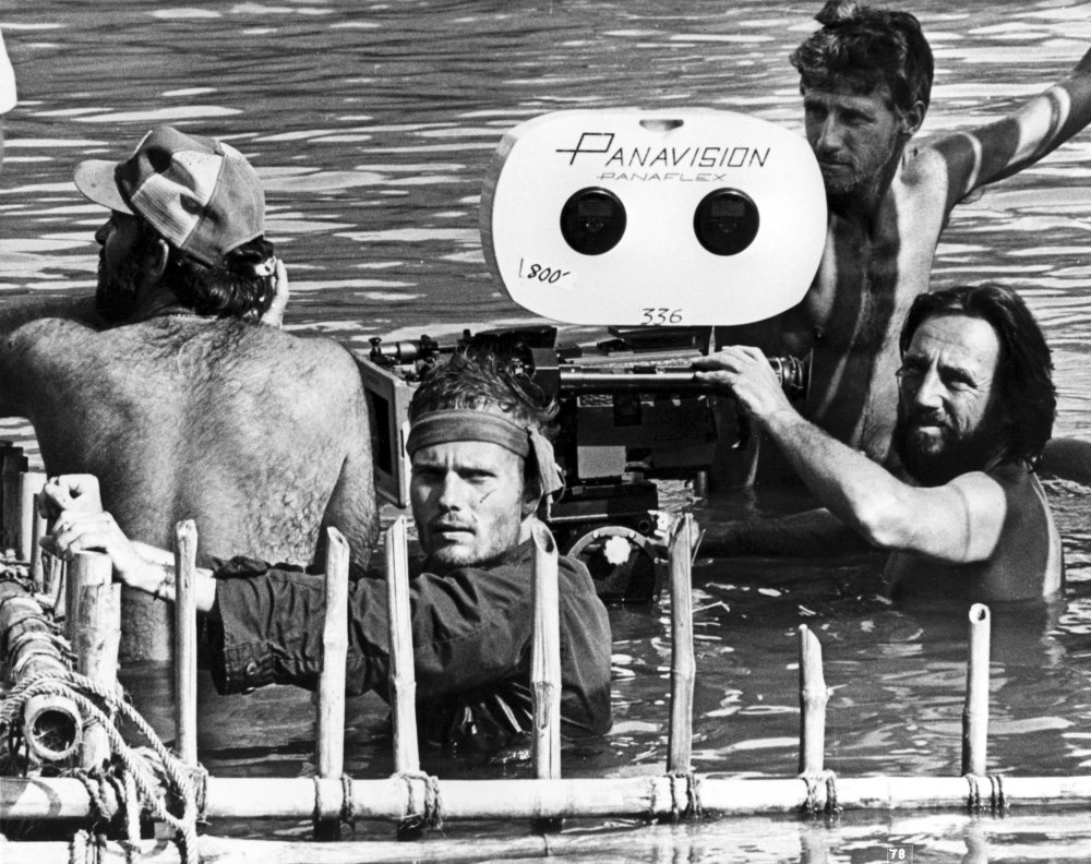 Vilmos Zsigmond filming The Deer Hunter (1978)