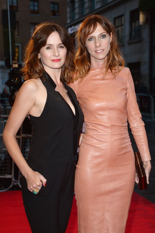Actors Emily Mortimer and Dolly Wells attend a screening of Doll and Em (2013) on day two of the 57th BFI London Film Festival