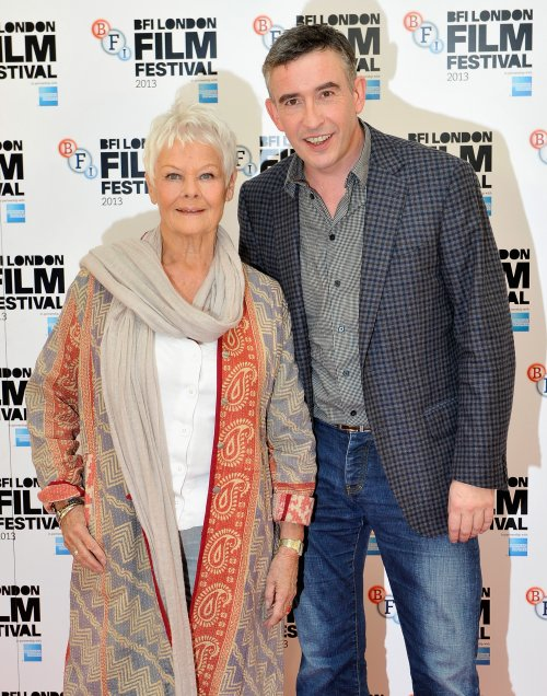 Judi Dench and Steve Coogan at the Philomena (2013) press conference at the 57th BFI London Film Festival.