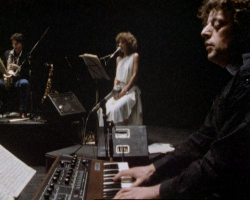 Philip Glass featured in Peter Greenaway's 1984 film 4 American Composers
