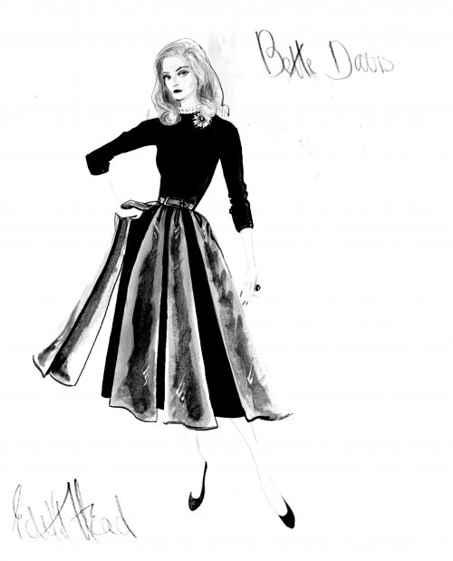 Edith Head's design for Bette Davis in All About Eve