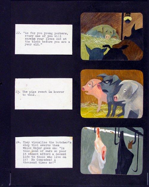 Storyboard for Animal Farm (1954)