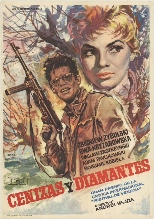 Ashes and Diamonds (1958): Spanish poster, 1964