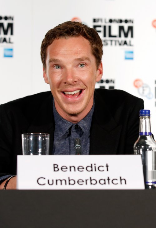 Benedict Cumberbatch at the press conference for The Imitation Game at the 58th BFI London Film Festival