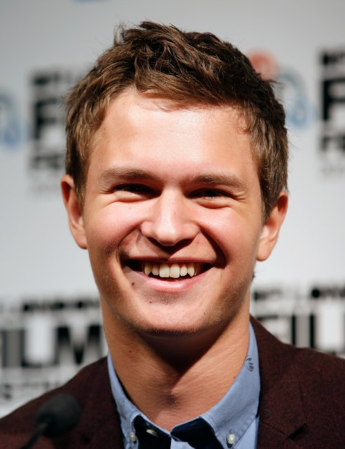Ansel Elgort at the press conference for Men, Women & Children at the 58th BFI London Film Festival