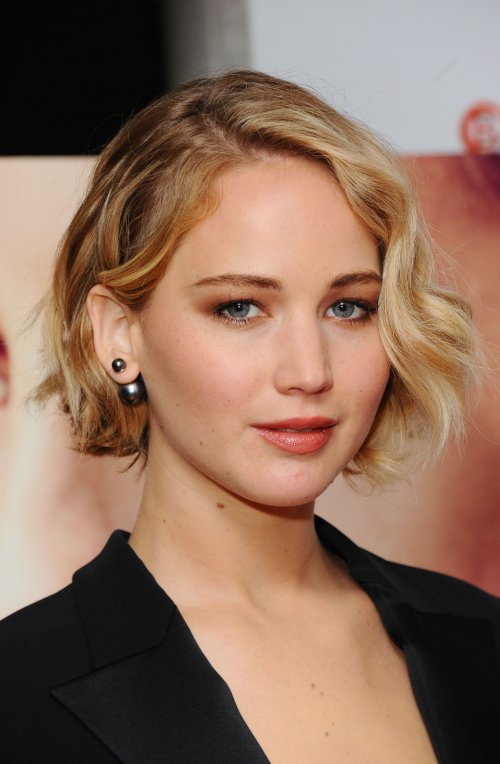 Jennifer Lawrence on the red carpet for Serena at the 58th BFI London Film Festival