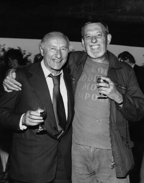 Bob Godfrey (right) with John Halas