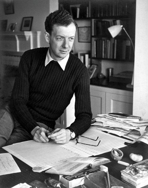 Britten at Crag House, circa 1949