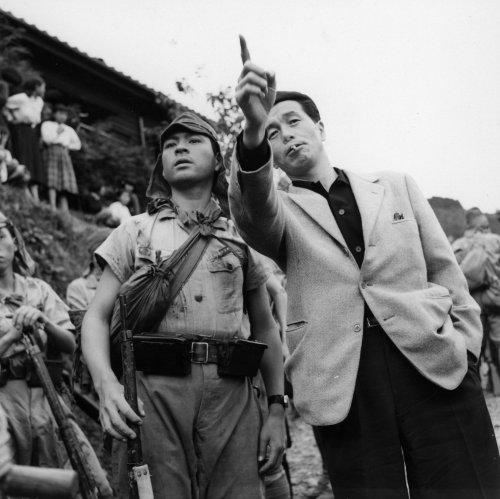 Kon Ichikawa directing The Burmese Harp (1956)
