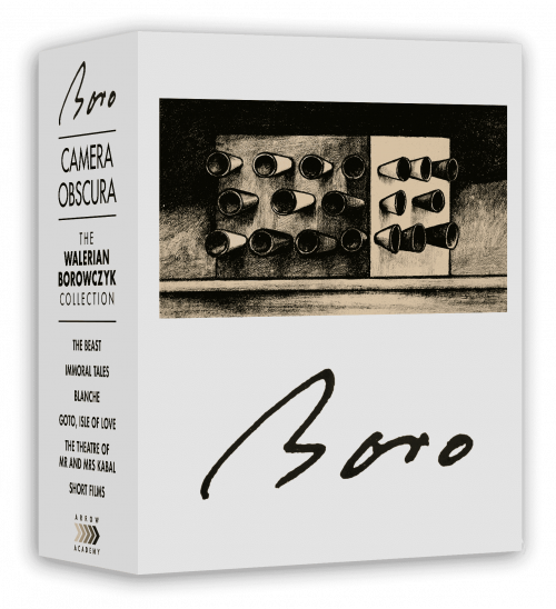 Arrow Academy's limited-edition Camera Obscura: The Walerian Borowczyk Collection, the runaway winner of this poll with 12 nominations, and sadly already out of print, although its constituent discs are now available separately. The discs are reviewed on pages 94-95 of our December 2014 issue.