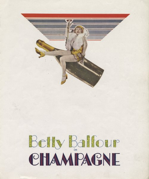 Pressbook for Champagne (1928)