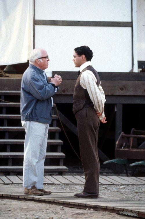 Richard Attenborough directing Robert Downey Jr in Chaplin (1992)