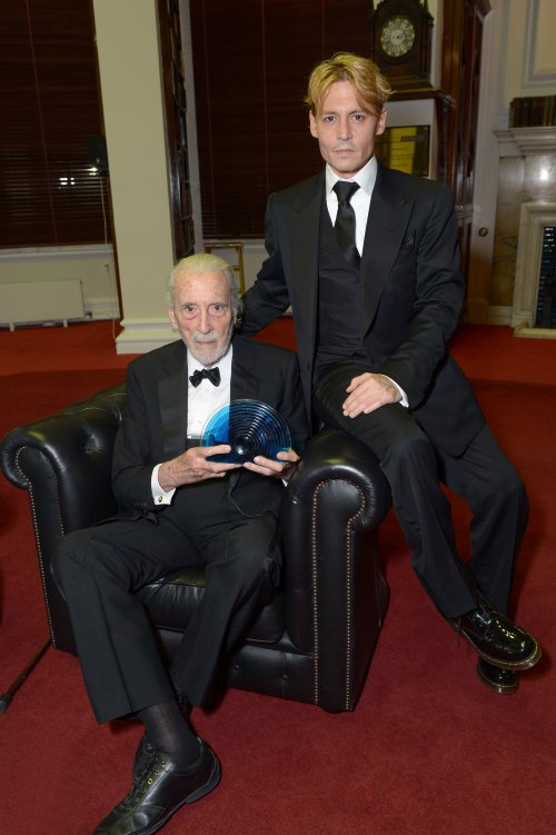 Sir Christopher Lee with Johnny Depp