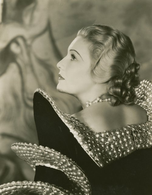 The Dictator (1935): film still showing Madeleine Carroll in Joseph Strassner's flamboyant yet chic designs