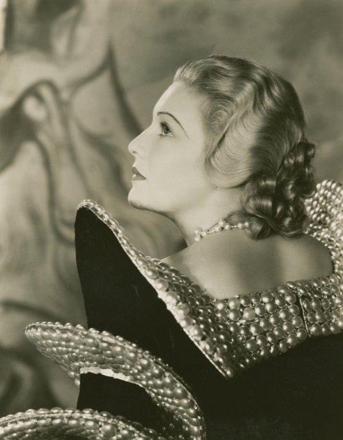 The Dictator (1935): film still showing Madeleine Carroll in Joseph Strassner's flamboyant yet chic designs