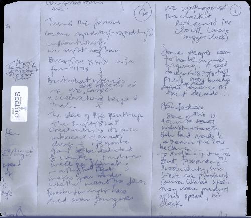 Mark Cousins' Dispatches column – first draft