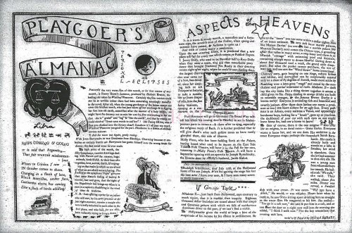 An example of Djuna Barnes's Personal Eclipses column and her illustrations, in the Theatre Guild magazine