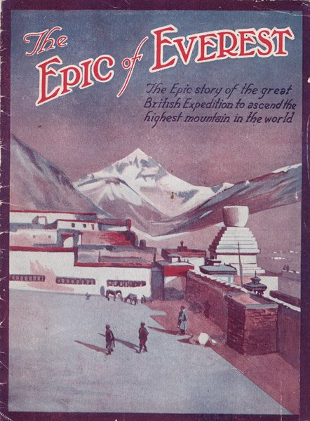 The Epic of Everest (1924) press book cover