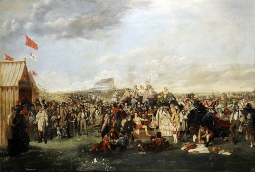 'The Derby Day' by William Powell Frith (1856-58) – the inspiration for an early, unrealised Hitchcock project