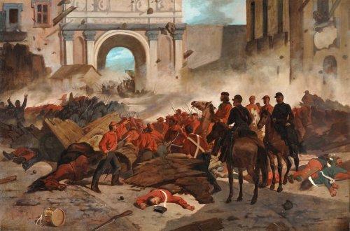 Garibaldi in Palermo by Giovanni Fattori, 1860