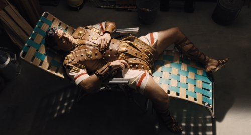 George Clooney as Baird Whitlock, in production on film-within-a-film 'Hail, Caesar: A Tale of the Christ'
