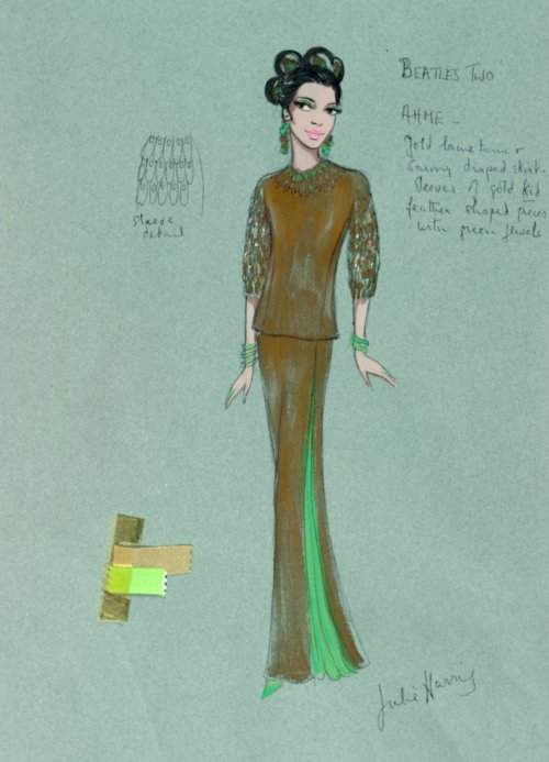 Help! (1965): costume design for Ahme