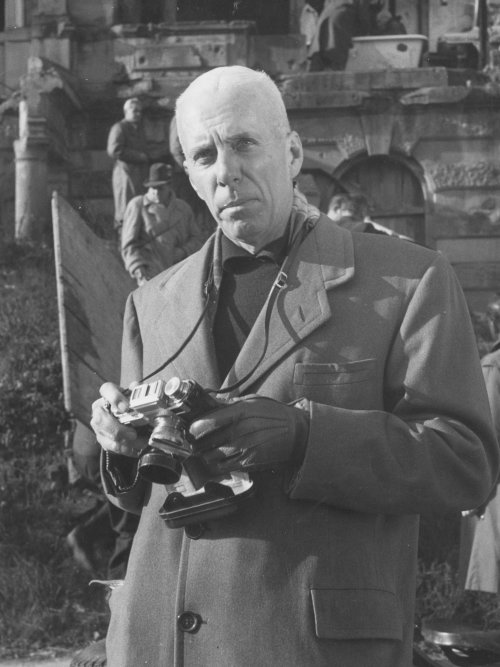 Howard Hawks on location for the filming of I Was a Male War Bride (1949)