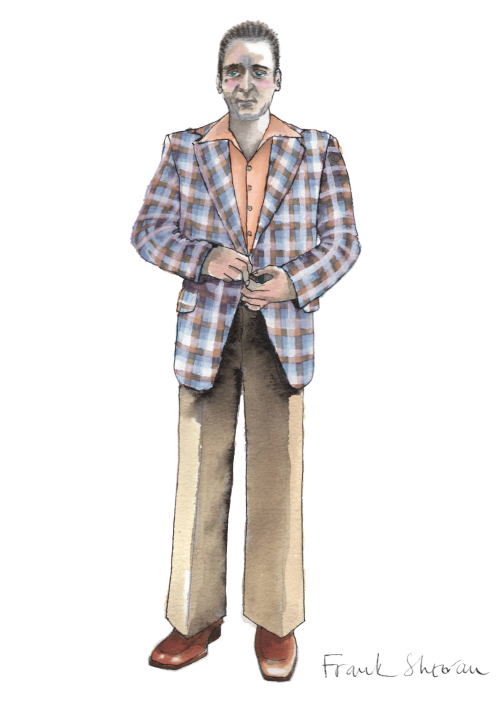 Sandy Powell's costume design sketch for Frank Sheeran in The Irishman (2019)