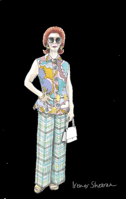 Sandy Powell's costume design sketch for Irene Sheeran in The Irishman (2019)