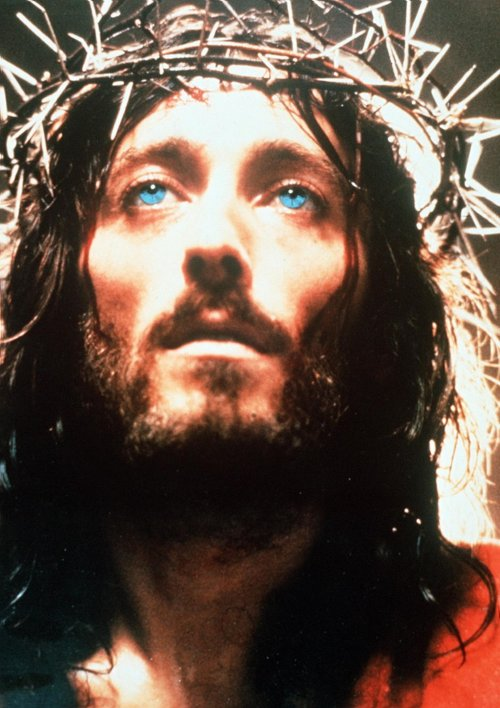 Robert Powell in Jesus of Nazareth (1977) – <span>'</span>a deodorised djellaba camping it up in the sand dunes'