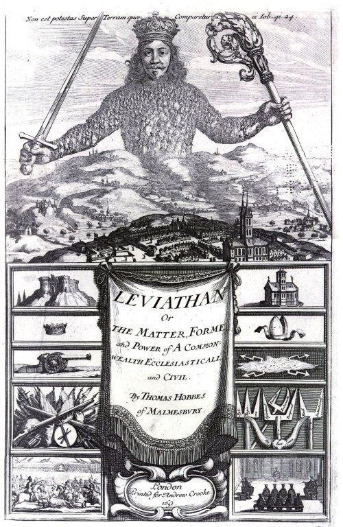 The frontispiece of Thomas Hobbes' Leviathan, illustrated by Abraham Bosse, 1651