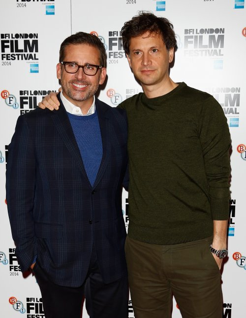Actor Steve Carell and director Bennett Miller attend the press conference for Foxcatcher during the 58th BFI London Film Festival
