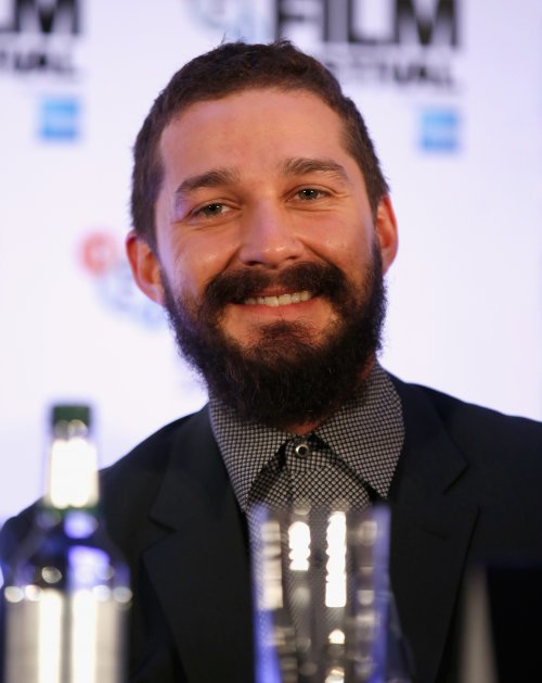 Actor Shia LaBeouf attends the press conference for Fury during the 58th BFI London Film Festival
