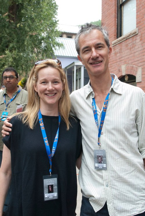 Dyer with Laura Linney at this year's Telluride Film Festival