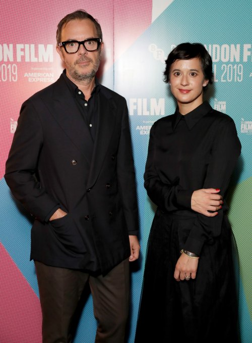 Directors Glenn Leyburn and Lisa Barros D'Sa at the premiere of Ordinary Love at the BFI London Film Festival
