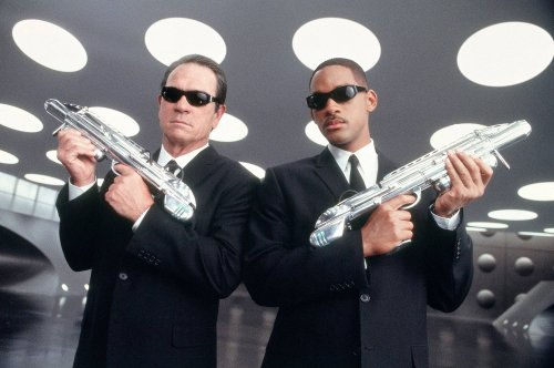 Will Smith with Tommy Lee Jones in Men in Black (1997)