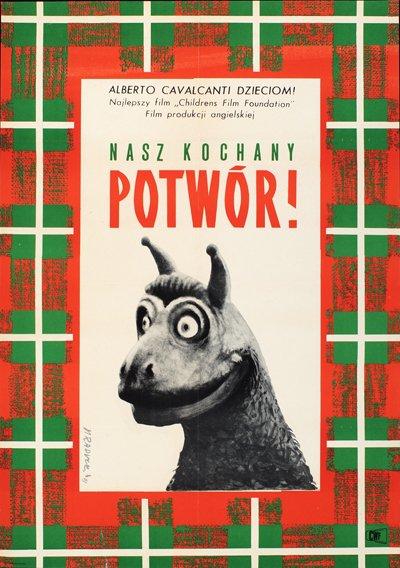 Polish poster for Alberto Cavalcanti's The Monster of Highgate Ponds (1961)