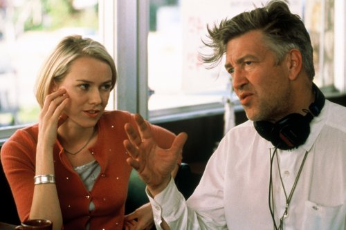 David Lynch with Naomi Watts on the set of Mulholland Dr. (2001)