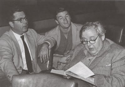 Charles Laughton (right) with theatre director Paul Baker